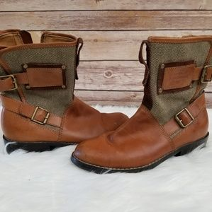 Harley Davidson Roper Style Combat Boots Buckle